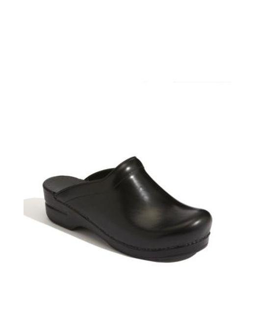 Dansko - Black 'sonja' Leather Clog - Lyst