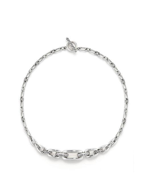David Yurman Metallic Wellesley Link Chaintm Station Necklace With Diamonds