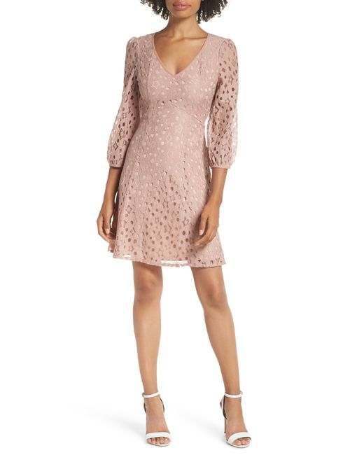 Heartloom - Purple Piper Lace Fit & Flare Dress - Lyst