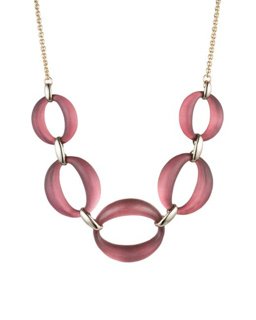 Alexis Bittar - Red Large Link Lucite Necklace - Lyst