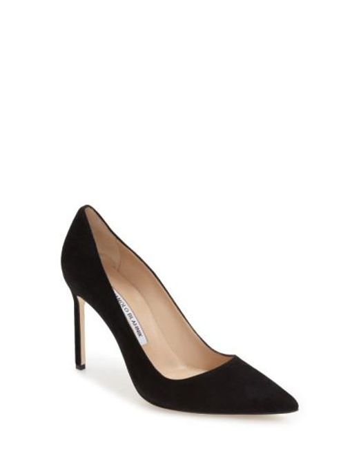 Manolo Blahnik | Black BB Suede Pump | Lyst