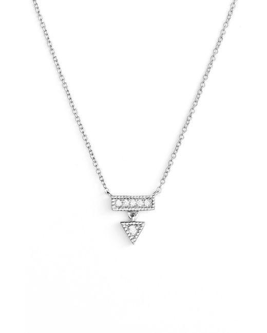 Dana Rebecca - Metallic Emily Sarah Diamond Triangle Dangle Necklace - Lyst