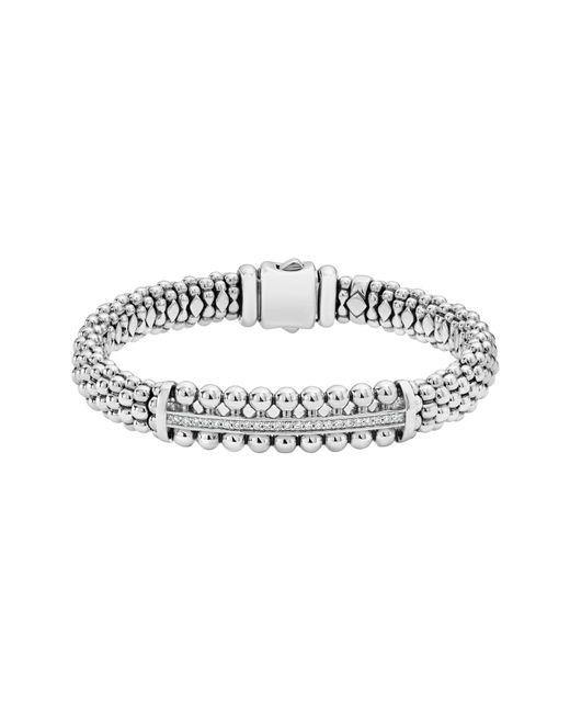 Lagos - Metallic Spark Diamond Station Bracelet - Lyst
