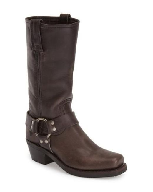 Frye - Gray 'Harness 12R' Boot - Lyst