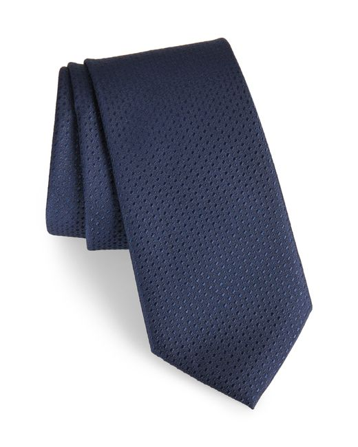Calibrate Blue Ballard Solid Silk Tie for men