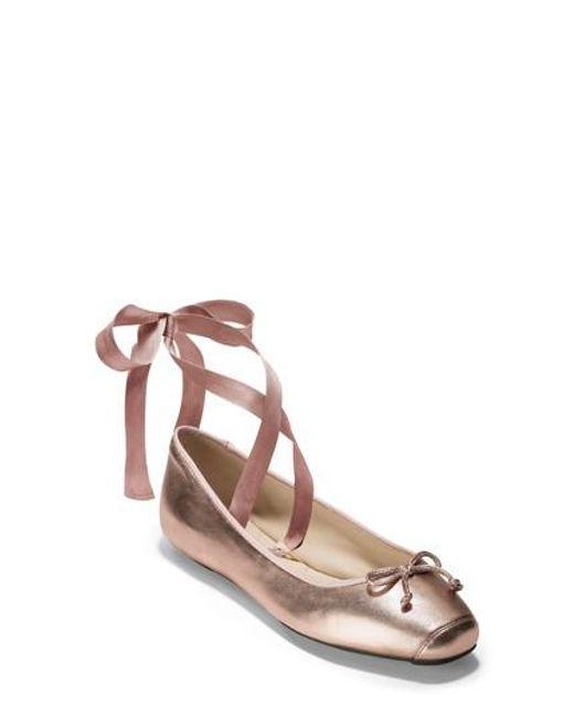 Cole Haan - Multicolor Downtown Ankle Wrap Ballet Flat - Lyst