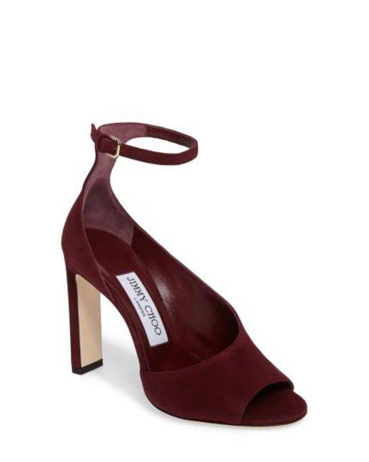 Jimmy Choo   Blue Theresa Ankle Strap Sandal   Lyst