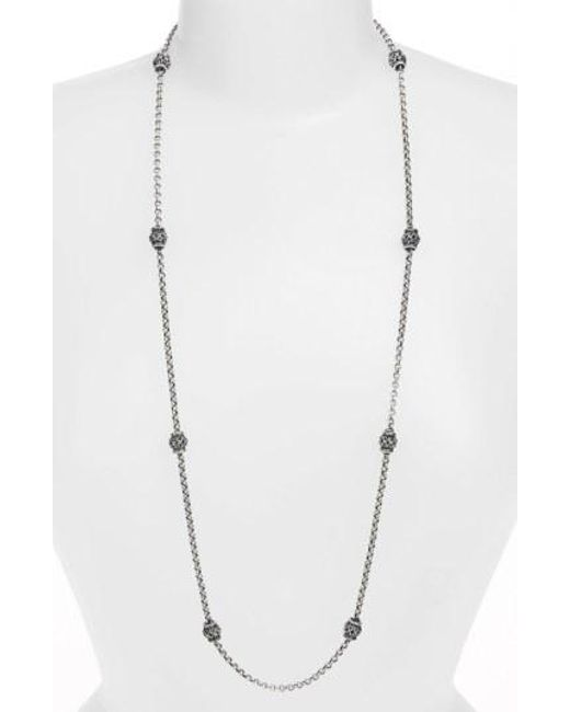 Konstantino - Metallic 'classics' Long Station Necklace - Lyst