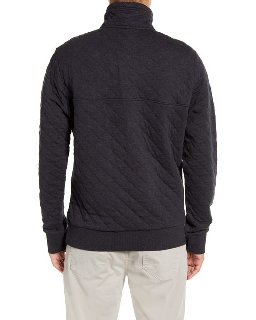 Patagonia Quilted Pullover Nordstrom: Patagonia Snap-t Quilted Fleece Pullover In Black For Men