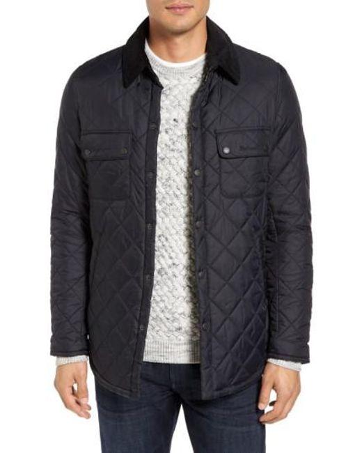Barbour | Black 'akenside' Regular Fit Quilted Jacket for Men | Lyst