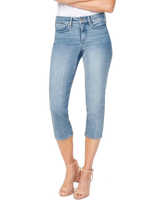 NYDJ Blue Capri Straight Leg Jeans