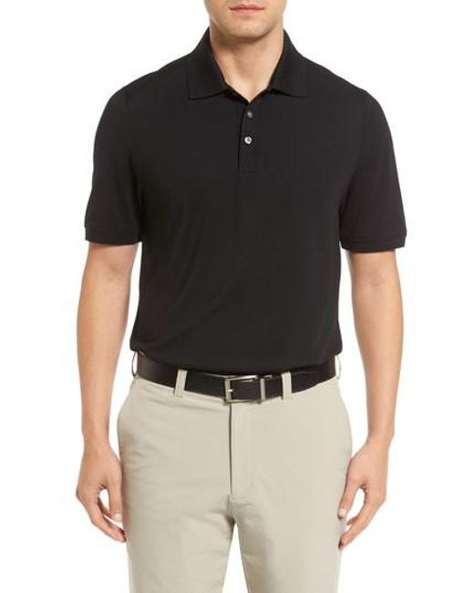 Cutter & Buck - Black Advantage Golf Polo for Men - Lyst