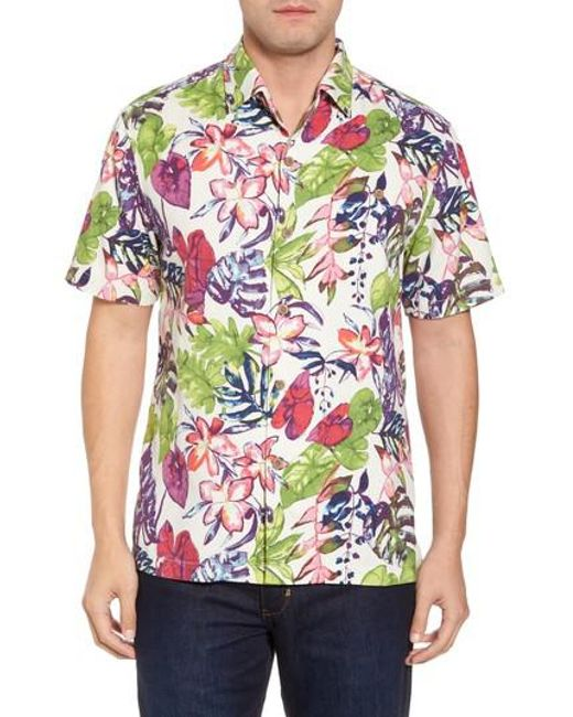 Tommy Bahama - Multicolor Riviera Garden Floral Silk Blend Camp Shirt for Men - Lyst