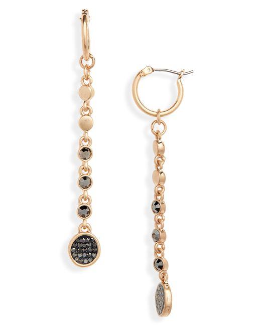 Treasure & Bond - Metallic Pave Disc Linear Drop Earrings - Lyst