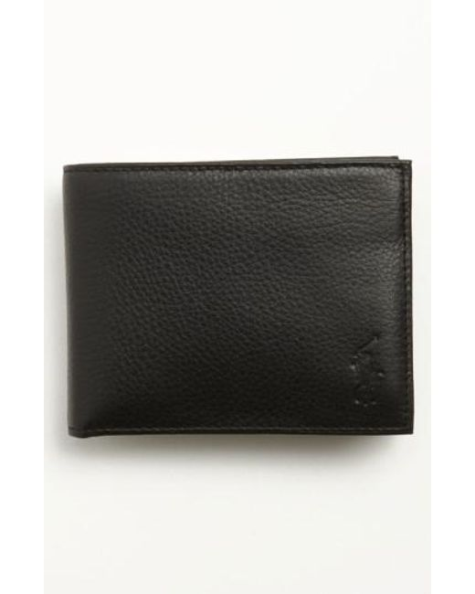 Polo Ralph Lauren | Black Leather Passcase Wallet for Men | Lyst