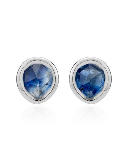 Monica Vinader - Blue Siren Mini Stud Earrings - Lyst