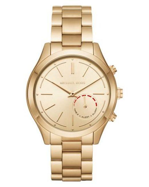 Michael Kors   Metallic Michael Michael Kors Slim Runway Smart Watch   Lyst