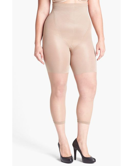 Spanx Natural Spanx Power Capri Control Top Footless Pantyhose