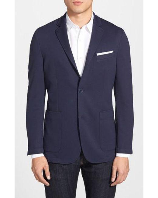 Vince Camuto - Blue Slim Fit Stretch Knit Blazer for Men - Lyst