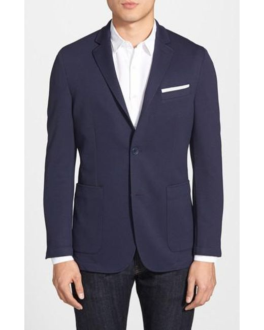 Vince Camuto - Blue Slim Fit Stretch Knit Blazer for Men - Lyst