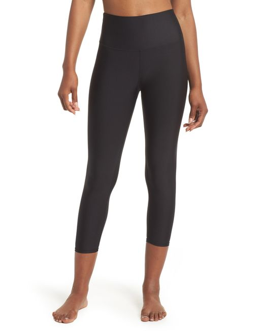 Alo Yoga - Black Airbrush Tech Lift High Waist Capris - Lyst