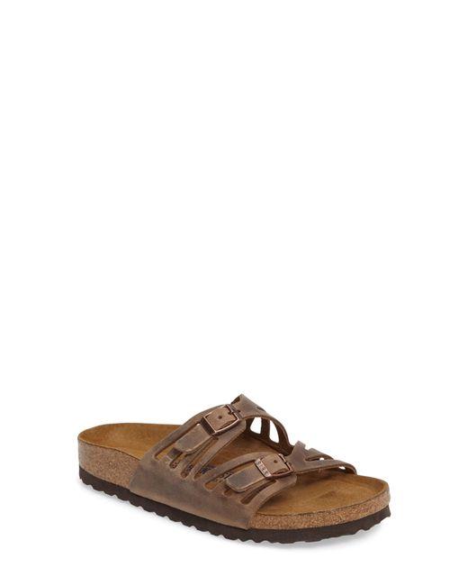 Birkenstock Brown Granada Soft Footbed Oiled Leather Sandal