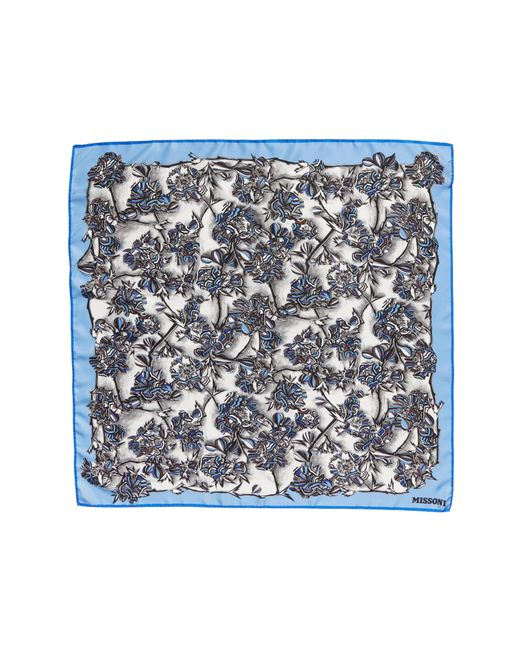 Missoni - Multicolor Floral Print Square Silk Scarf - Lyst