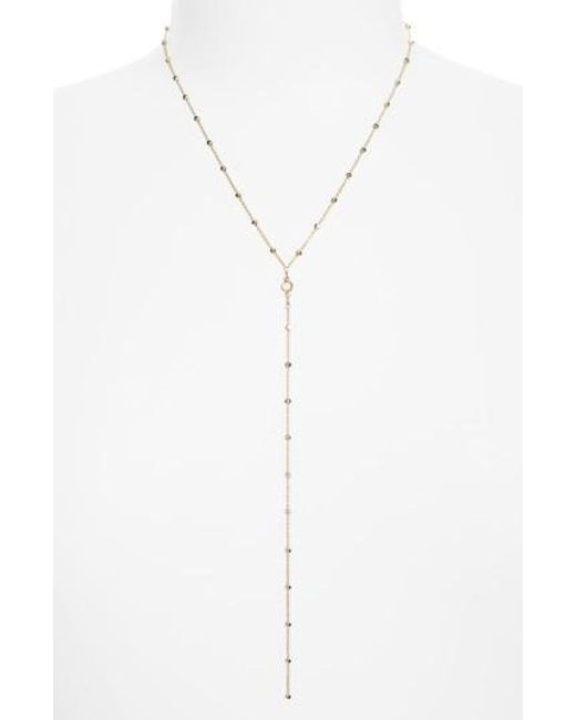Dogeared | Metallic Crystal Y-necklace | Lyst