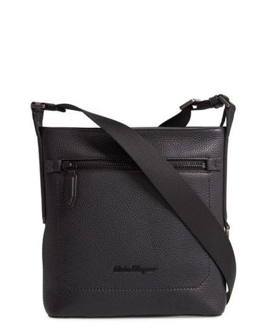c78bdf16a568 Lyst - Ferragamo Firenze Leather Crossbody Bag - in Black for Men