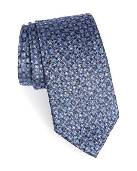 Nordstrom - Blue Grid Silk Tie for Men - Lyst