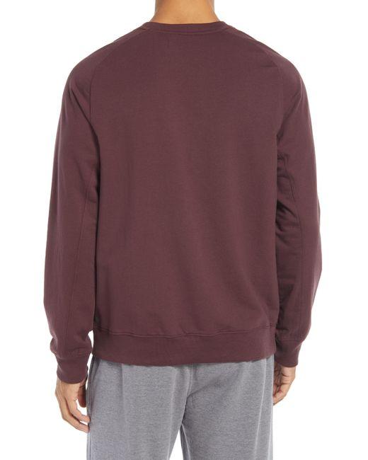 Zella Purple Crewneck Fleece Sweatshirt for men
