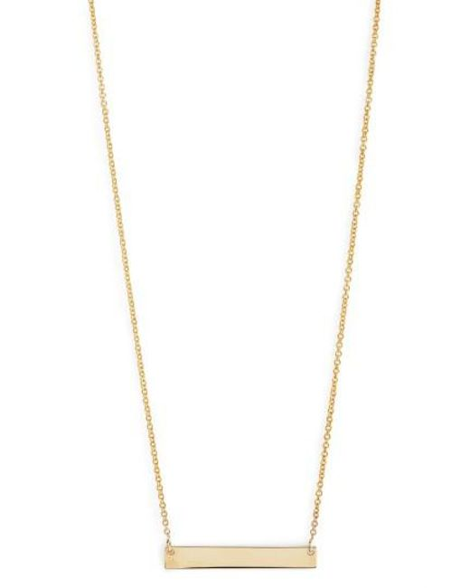 Bony Levy - Yellow 14k Gold Bar Pendant Necklace (nordstrom Exclusive) - Lyst