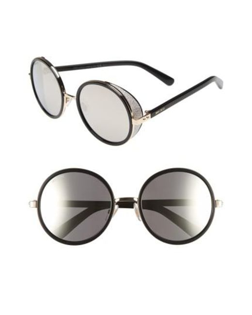 Jimmy Choo - Pink 'andies' 54mm Round Sunglasses - Lyst