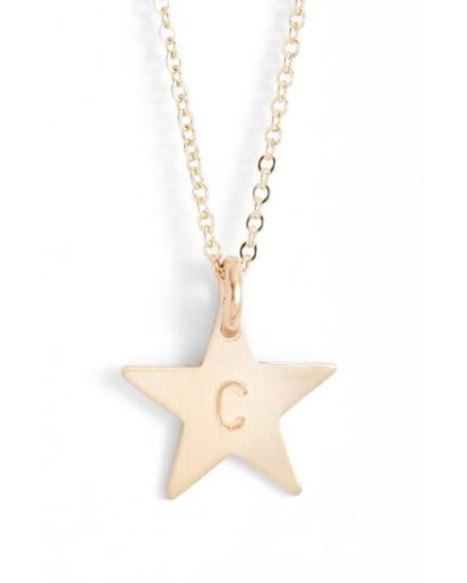 Nashelle C Initial Disc Necklace Charm Gold