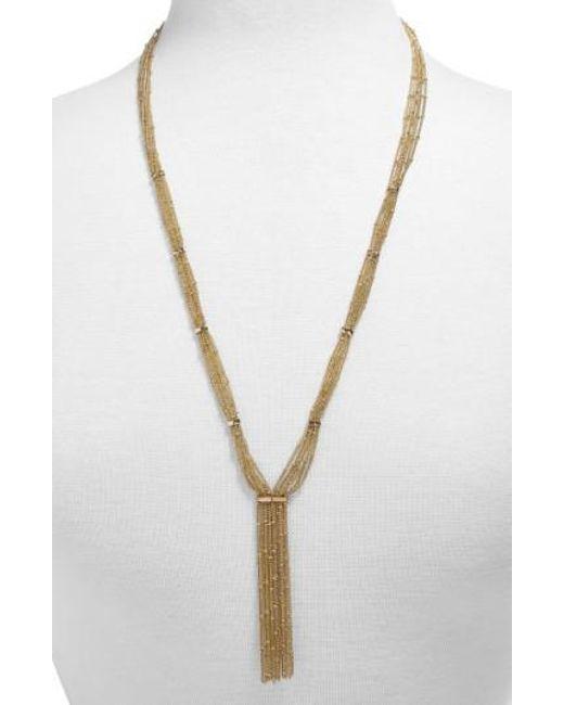 BaubleBar - Metallic Pavanne Chain Y-necklace - Lyst
