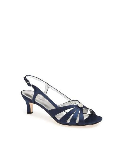 David Tate - Blue Rosette Embellished Sandals - Lyst