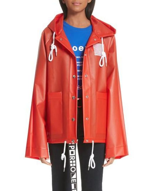 Proenza Schouler - Red Pswl Graphic Raincoat - Lyst