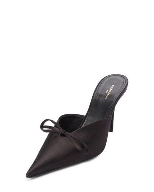 Balenciaga - Black Pointy Toe Mule - Lyst