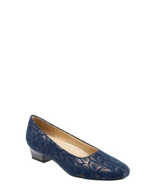 Trotters | Blue 'doris' Pump | Lyst