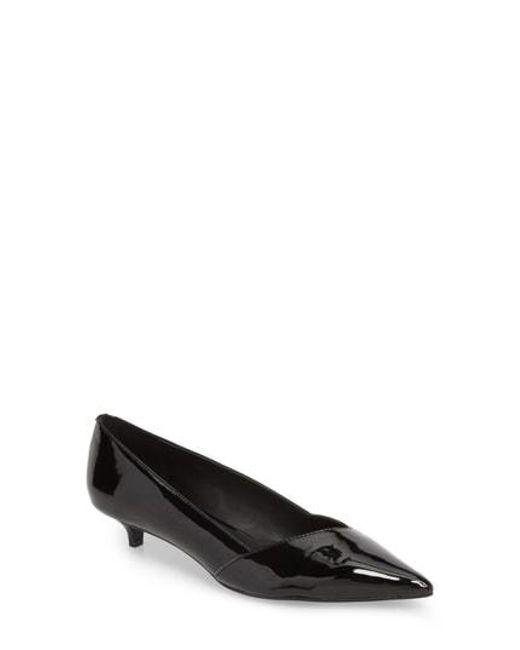 Calvin Klein - Black Mai Kitten Heel Pump - Lyst