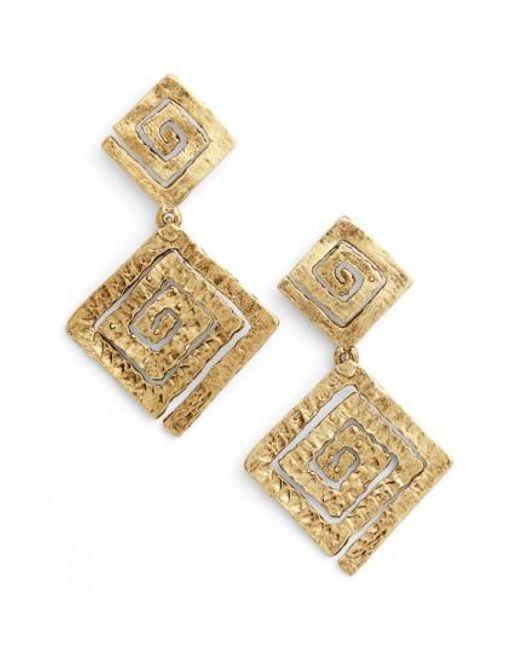 Karine Sultan | Metallic Drop Earrings | Lyst