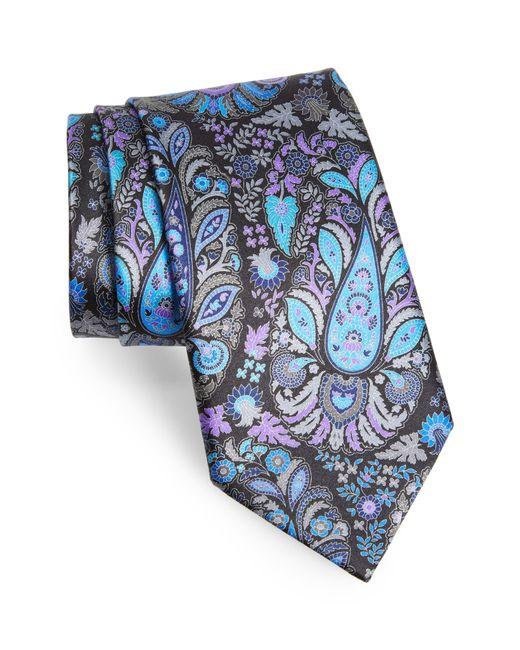 Ermenegildo Zegna - Black Quindici Paisley Silk Tie for Men - Lyst