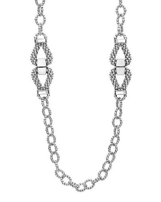 Lagos | Metallic Derby Caviar Link Necklace | Lyst