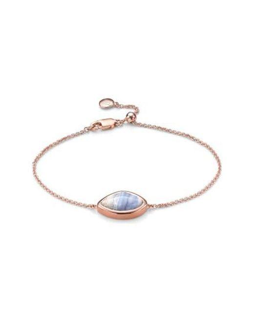 Monica Vinader   Blue 'siren' Teardrop Bracelet   Lyst