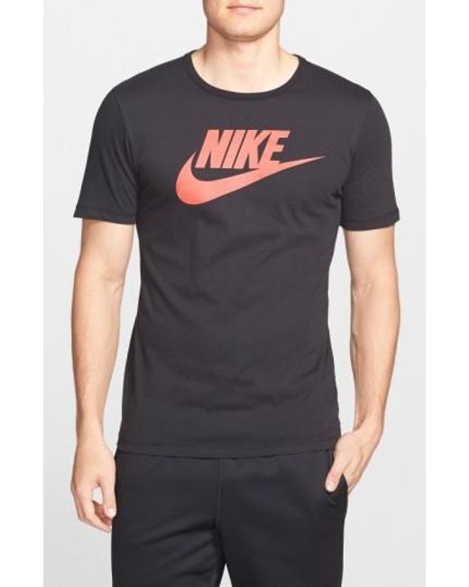 Nike | Black 'tee-futura Icon' Graphic T-shirt for Men | Lyst