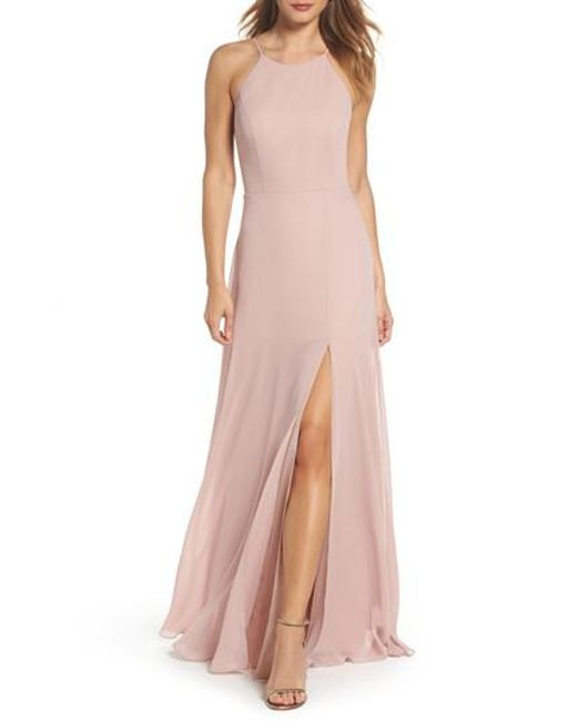 Jenny Yoo - Pink Kayla A-line Halter Gown - Lyst