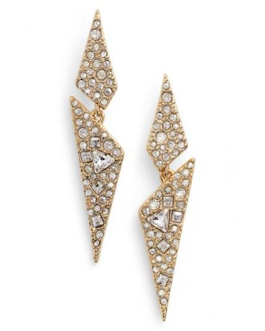 Alexis Bittar | Metallic Crystal Encrusted Dangling Drop Earrings | Lyst