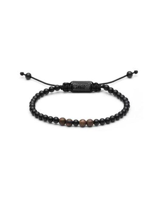 ORIGINAL GRAIN - Black Bead Bracelet for Men - Lyst