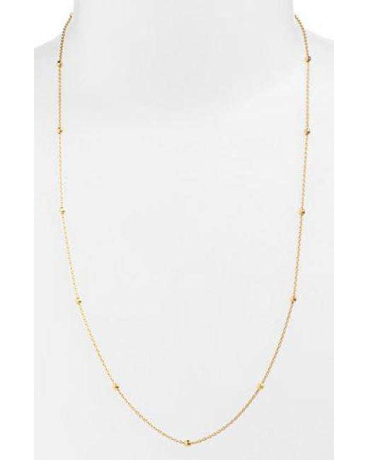 Argento Vivo | Metallic Long Station Necklace | Lyst