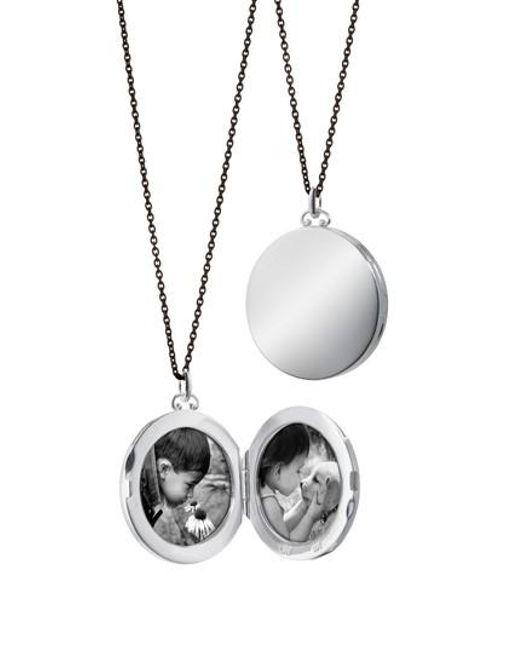 Monica Rich Kosann - Metallic Round Dome Locket Necklace - Lyst